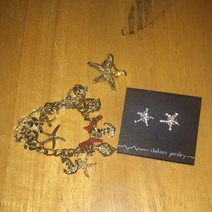 Jewelry - Bracelet, earrings and ring.